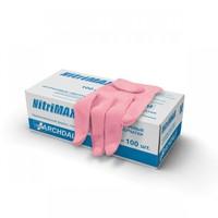 Перчатки NitriMax нитриловые неопудренные, розовые, 50пар/упаковка