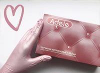 Перчатки нитриловые неопудренные ADELE, розовый перламутр, 50пар/уп.