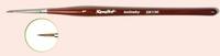 Roubloff Кисть для росписи ногтей Колонок - Фигурная бордовая  ручка